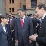 La Presidente Serracchiani, l'Ambasciatore Yelemessov e il console Bellinello
