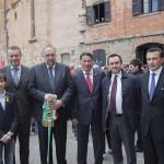 il console Parkhotik, l'assessore Kraus, il sindaco Cosolini, l'ambasciatore Yelemessov, l'on. Rosato e il console Bellinello