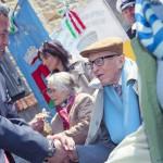 l'Ambasciatore Yelemessov saluta Boris Pahor, famoso scrittore di lingua slovena ex partigiano ed ex internato nei lager nazisti