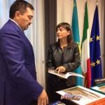 Sergey Nurtayev (Ambasciatore Repubblica Kazakhstan in Italia) e Debora Serracchiani Presidente Regione FVG - Udine 14/10/2016
