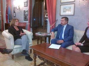 S.E. dott.ssa Annalisa Porzio (Commissario di Governo  - Prefetto di Trieste) e S.E. Sergey Nurtayev (Ambasciatore Repubblica Kazakhstan in Italia) - Trieste 13/10/2016