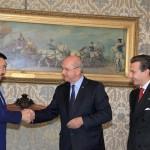 Sergey Nurtayev (Ambasciatore Repubblica Kazakhstan in Italia) e gran. uff. Roberto Dipiazza (Sindaco di Trieste) e Luca Bellinello (Console Onorario del Kazakhstana a Trieste) - Trieste 14/10/2016
