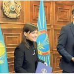 La Presidente Serracchiani con il Sindaco di Astana Issekheshev